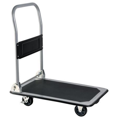तह वाणिज्यिक मंच गाड़ी जीएस स्वीकृत (लोड हो रहा है 150 किलो) - फोल्डिंग स्टील हैवी-ड्यूटी कार्ट औद्योगिक ग्रेड कैस्टर का उपयोग किया जाता है