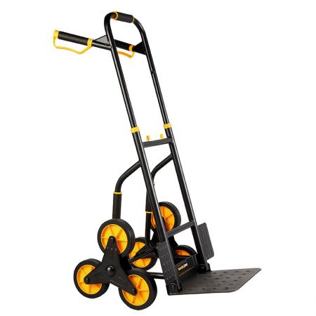 Dual Handle Folding Steel Stair Hand Truck (Loading 120 kg) - New developed stair climbing hand truck