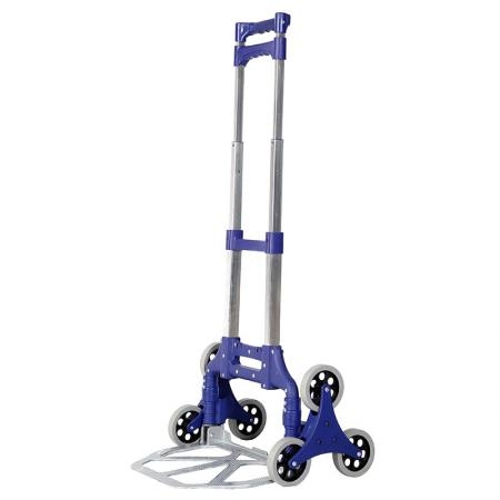 Aluminum Climbing Trolley with Elastic Cord (Loading 70 kg) - Stair-climb trolley is slim and solid