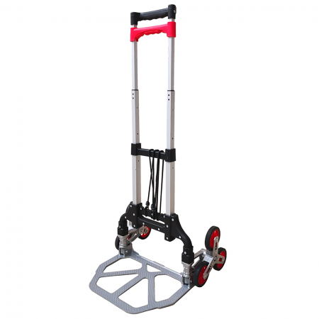Foldable Aluminum Stair-Climbing Hand Truck (Loading 75 kg) - Stair-climb trolley is slim and solid, able to move item up and down stair