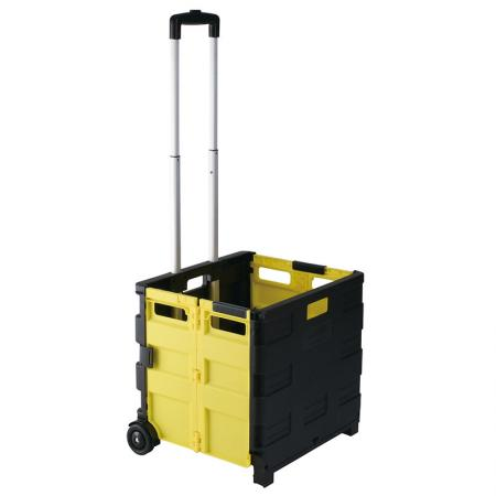 Collapsible Plastic Utility Shopping Cart (Loading 40 kg)