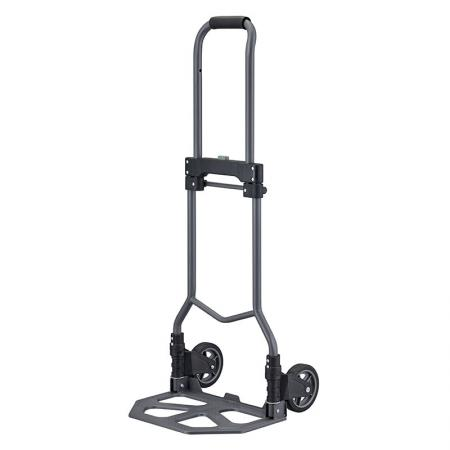 Big Plate Foldable Steel Hand Truck (Loading 75kg) - Large plate steel folding hand truck manufactured by professional hand truck factory.