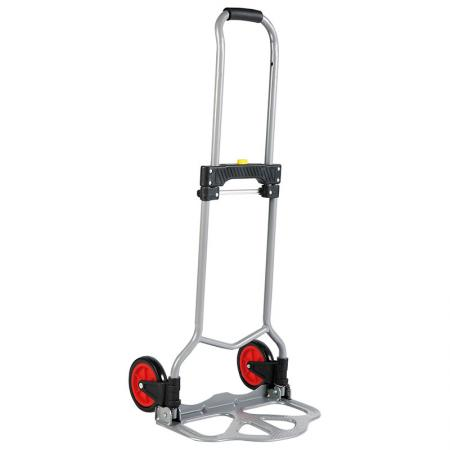 Simple Lightwight Steel Hand Truck (Loading 60 KG) - Steel folding Hand Cart is produced in accordance with all standard of TUV / GS certificate.