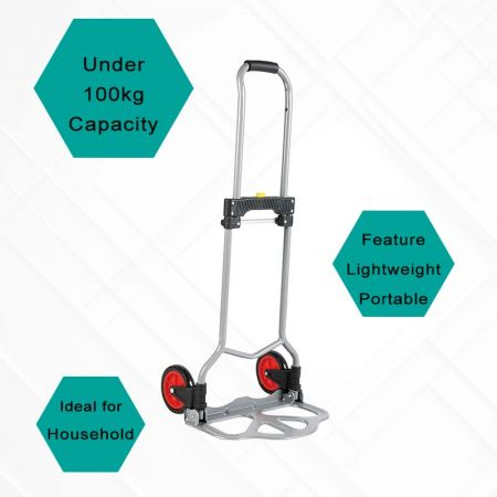Below 100kg Capacity Hand Trucks - Capacity less than 100 kg lightweight dolly cart meet the needs of daily transport.