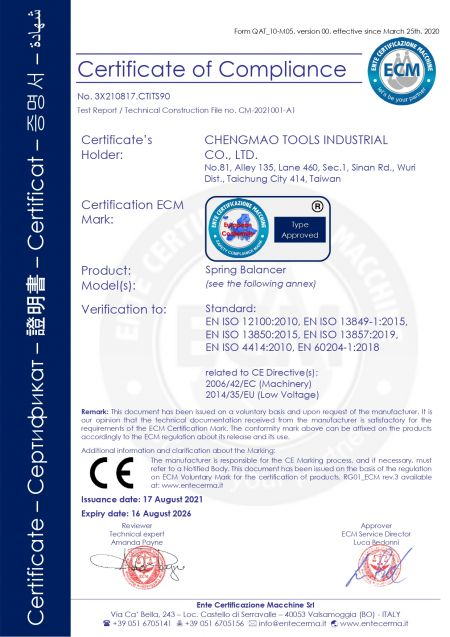 SB series CE Certification