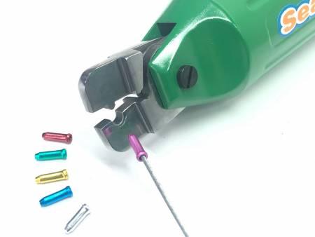 Crimpatrice pneumatica per cappuccio terminale del cavo del freno / cappuccio terminale del cavo