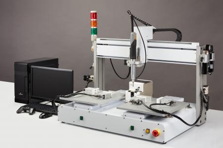 Robot Type Double Y เครื่องดูดสูญญากาศ Automatic Screw Feeder - Robot Type Double Y Vacuum Pick-up Automatic Screw Feeder (รุ่น: CM-TABLE-V-2Y) (ฟังก์ชัน: การตรวจจับอัจฉริยะ) (สกรูที่เหมาะสม: M1.4-M5)