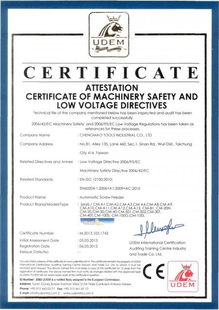 CE प्रमाण पत्र