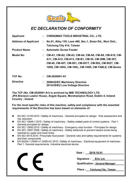 ใบรับรอง CE