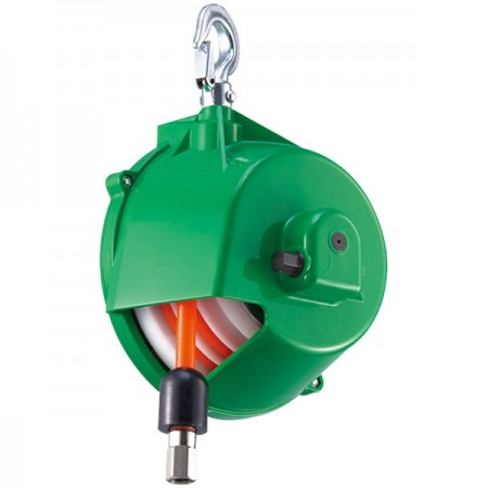 Hose Balancer (0.5 - 1.5kg) Spiral Type in Zero Gravity - Integrate hose reel and spring balancer to organize work station and improve efficiency.