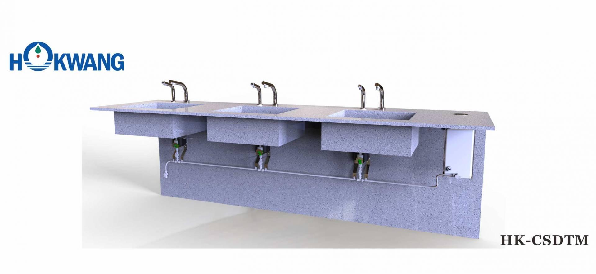 Sistema automático de dispensador de sabão com alimentação múltipla HK-CSDTM