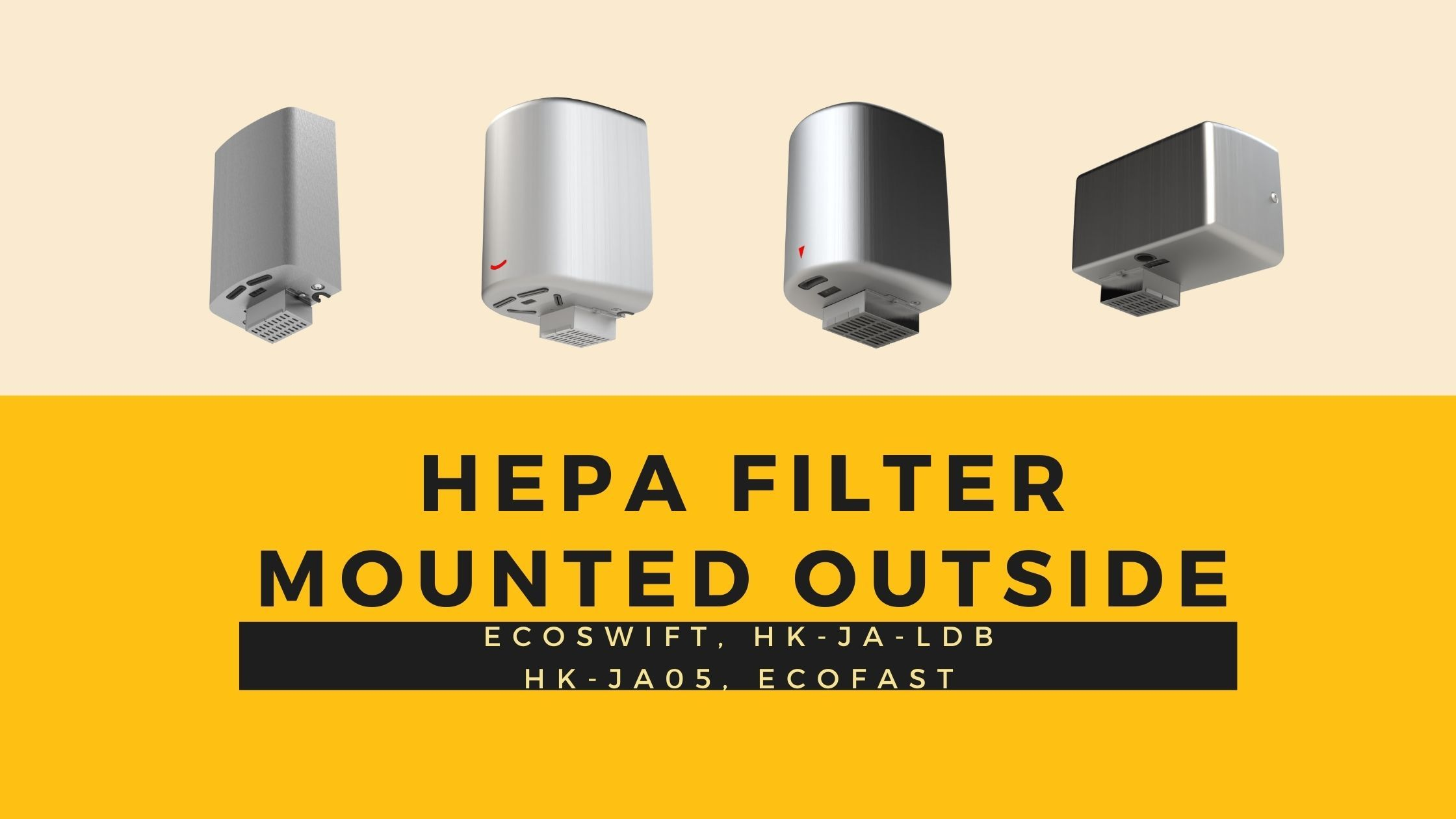 Hokwang High Speed Hand Dryer with HEPA Filter Mounted Outside