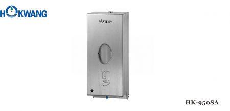 Rozsdamentes acél 800 ml automatikus folyékony szappan/fertőtlenítő adagoló - HK-950SA rozsdamentes acél automatikus folyékony szappanadagoló