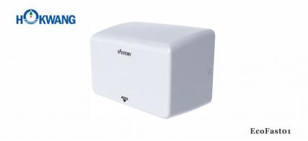 White Compact Hand Dryer - EcoFast01 1000W White Compact Hand Dryer