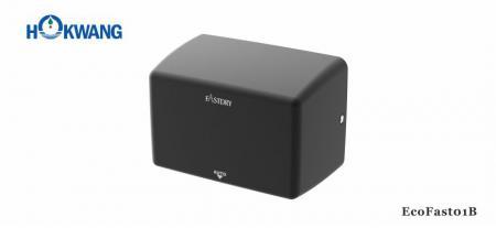 Matt fekete kompakt kézszárító - EcoFast01B 1000W fekete kompakt kézszárító