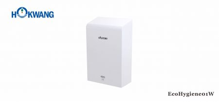 White Stainless Steel ADA Hand Dryer With HEPA Filter - EcoHygiene01W ADA compliant Hygienic White Hand Dryer