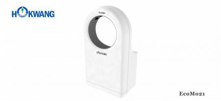 White Wheelchair Friendly Round-Shaped Jet Hand Dryer - EcoMo21 1600W White Wheelchair Friendly Round-Shaped Jet Hand Dryer