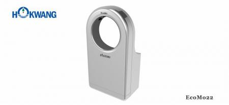Silver Wheelchair Friendly Round-Shaped HEPA Hand Dryer - EcoMo22 1600W Silver Wheelchair Friendly Round-Shaped Jet Hand Dryer
