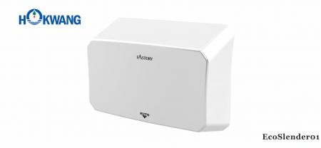 White ADA Slim Hand Dryer - EcoSlender01 ADA compliant 1000W White Slim Hand Dryer