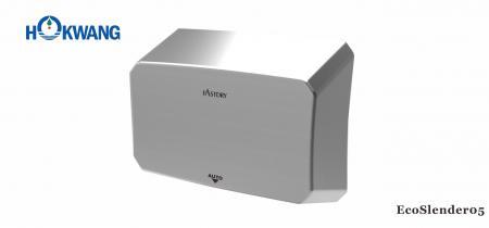 Asciugamani ADA Slim in acciaio inossidabile satinato - Asciugamani sottile in acciaio inossidabile satinato da 1000 W conforme a ADA EcoSlender05