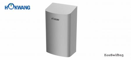 Smallest ADA Stainless Steel Hand Dryer - EcoSwift05 G-Mark Certified ADA compliant 1000W Small Stainless Steel Hand Dryer