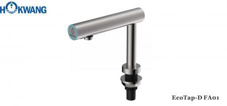 Saten Paslanmaz Çelik Güverte Üstü Otomatik Musluk - EcoTap-D FA01 Otomatik Musluk-Paslanmaz Çelik