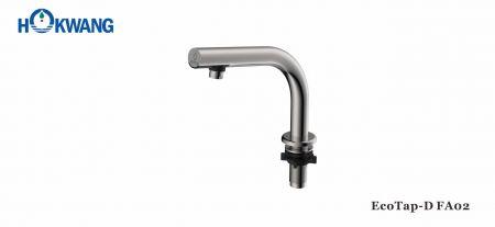 Saten Paslanmaz Çelik Güverte Üstü İnce Boyunlu Otomatik Musluk - EcoTap-D FA02 Otomatik Musluk-Paslanmaz Çelik