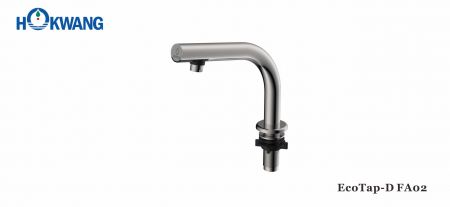 Satin Stainless Steel Deck Mounted Slim Neck Auto Faucet - EcoTap-D FA02 Auto Faucet-Stainless Steel