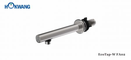 サテンステンレス鋼壁に取り付けられたスリムな自動蛇口 - EcoTap-WFA02自動蛇口-ステンレス鋼