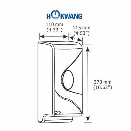 HK-950DA Plastic 950 ml Auto Liquid Soap Dispenser Dimensions