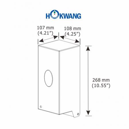 Пластмасса HK-950SA Размеры дозатора автоматического жидкого мыла на 950 мл