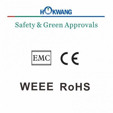 Certificados de dispensador automático de sabão de Hokwang