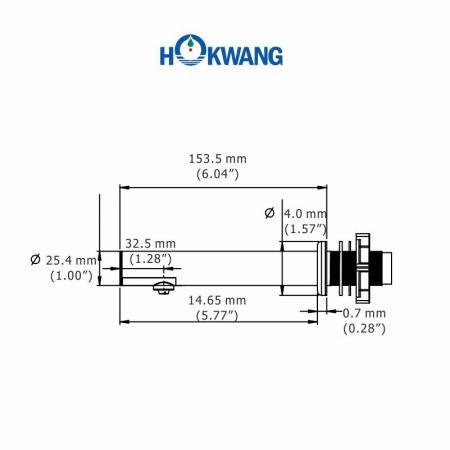 HK-CSD4R Otomatik Paslanmaz Çelik Duvara Monte Sıvı/Köpük sabunluk Boyutları