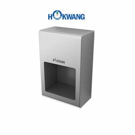 Secador de mãos compacto de aço inoxidável