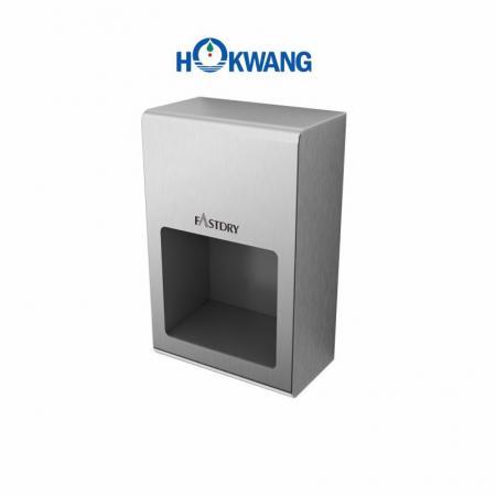 Secador de mãos compacto de aço inoxidável semi-encastrado