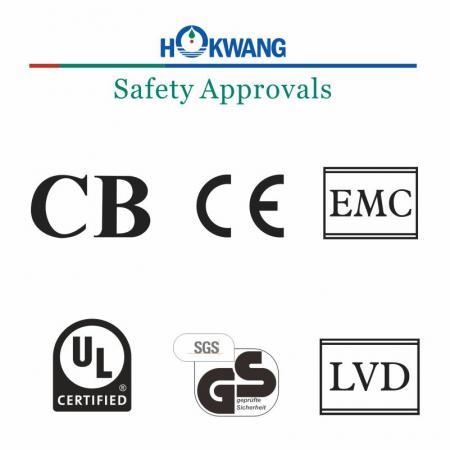 Aprovação de segurança do secador de mãos Hokwang