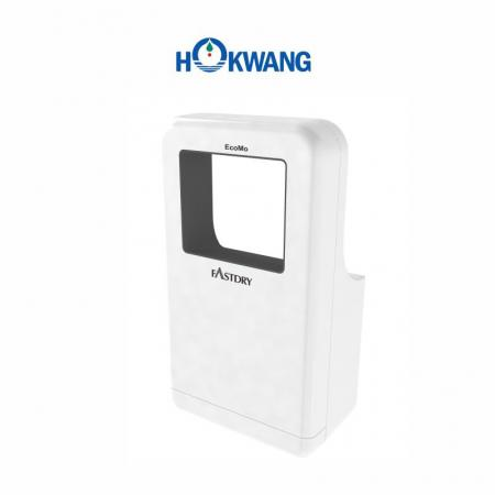 White Wheelchair Friendly Square-Shaped Jet Hand Dryer