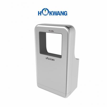 Silver Wheelchair Friendly Square-Shaped Jet Hand Dryer
