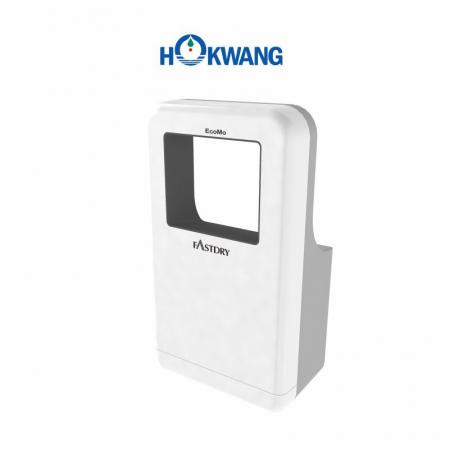 White and Grey Wheelchair Friendly Square-Shaped Jet Hand Dryer