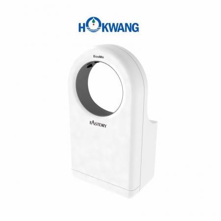 Secador de mãos a jato em forma redonda, amigável para cadeiras de rodas brancas