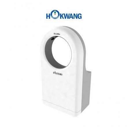 White and Grey Wheelchair Friendly Round-Shaped Jet Hand Dryer