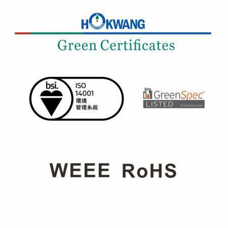 Hokwang Hand Dryer Green Certificate