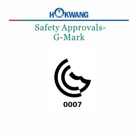 Hokwang Hand Dryer G Mark Certificate