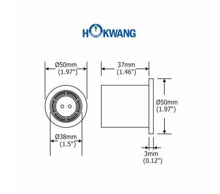 InnoWash HD Hand Dryer Dimensions Spout Part