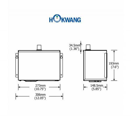 InnoWash HD Hand Dryer Dimensions Dryer Part