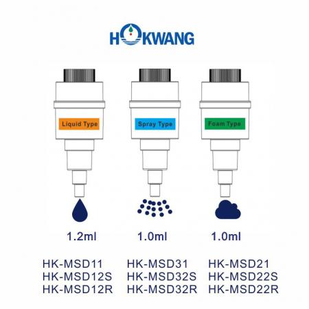 HK-MSD Interchangeable Soap Pumps