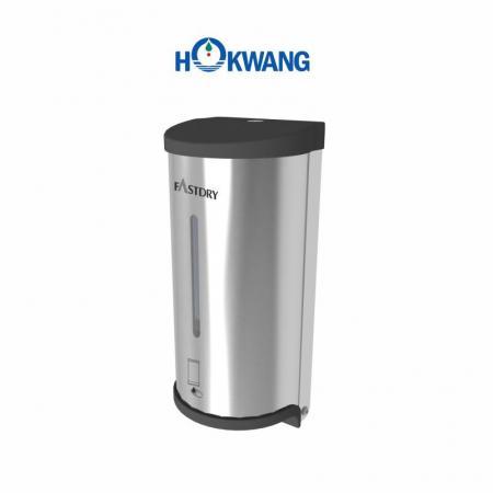 Distributeur automatique de savon liquide en acier inoxydable avec extrémités en plastique
