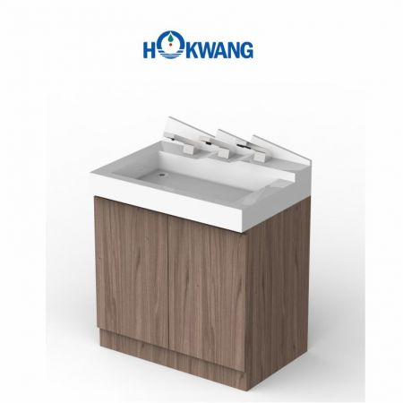 Peninsula Hand Wash Station with cabinet