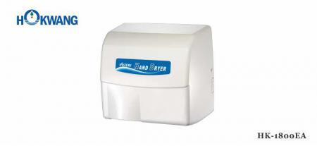 White Aluminum 1800W Auto Hand Dryer - 1800EA White Aluminum 1800W Auto Hand Dryer