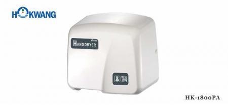 White ABS Plastic 1800W Auto Hand Dryer - 1800PA White ABS Plastic 1800W Auto Hand Dryer